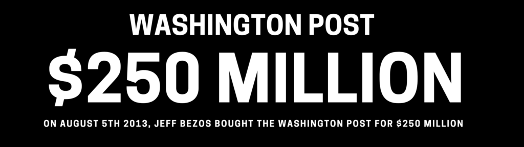 jeff bezos bought washington post