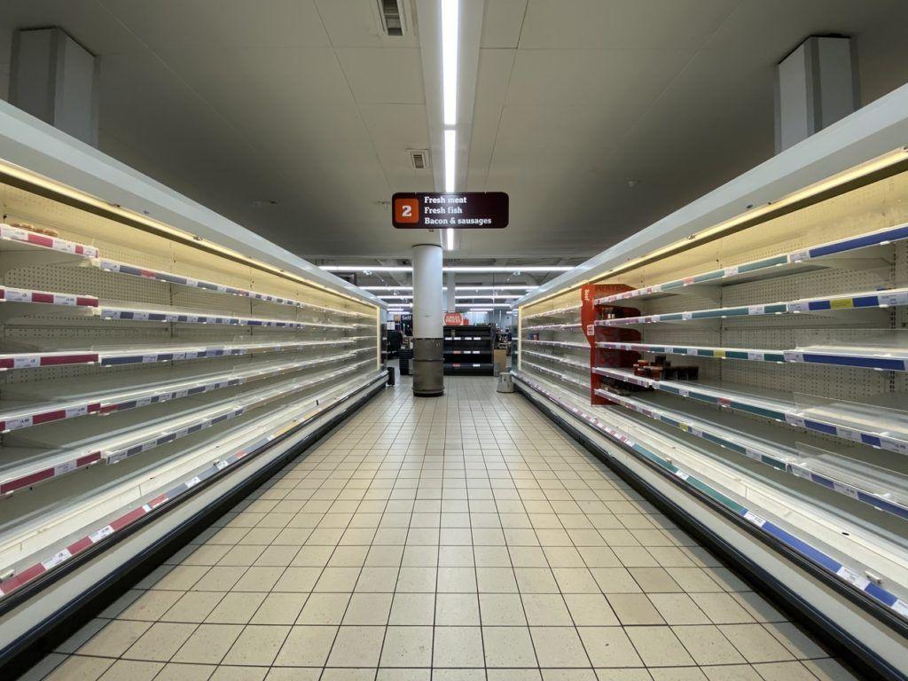 empty supermarket