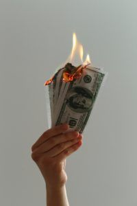 dollar burning