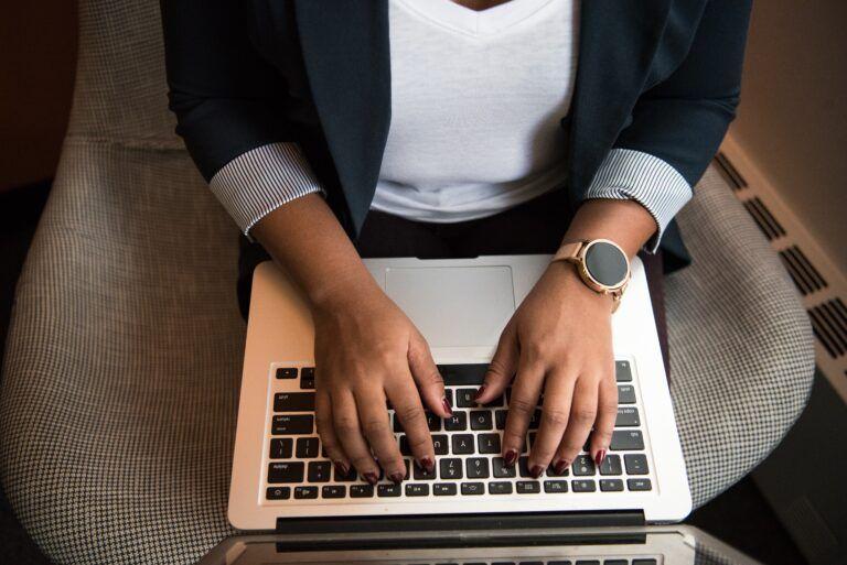 man using MacBook Pro